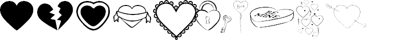Preview image for Hearts BV Font
