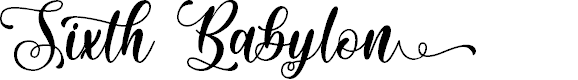 Preview image for Sixth Babylon - Personal Use Font
