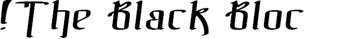 Preview image for !The Black Bloc Italic