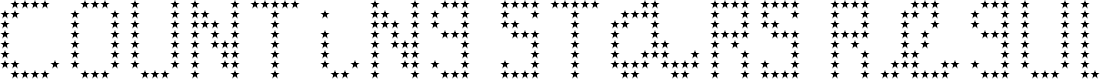 Preview image for Counting Stars Regular Font