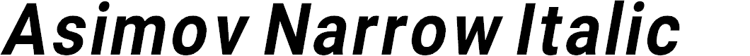 Preview image for Asimov Narrow Italic