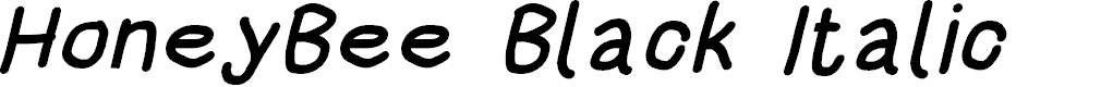 Preview image for HoneyBee Black Italic