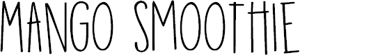 Preview image for DKMangoSmoothie Font