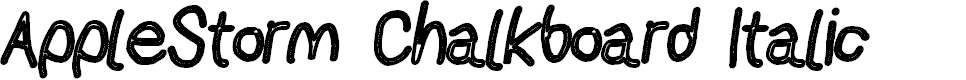 Preview image for AppleStorm Chalkboard Italic