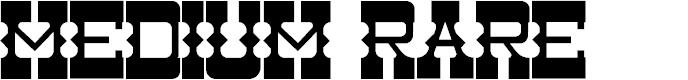 Preview image for Medium Rare Font