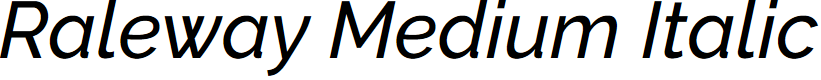 Preview image for Raleway Medium Italic