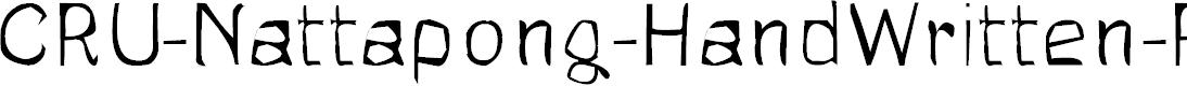 Preview image for CRU-Nattapong-HandWritten-Regul Font