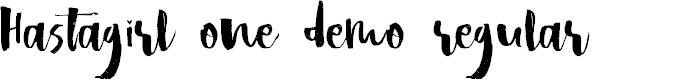 Preview image for Hastagirl One DEMO Regular Font