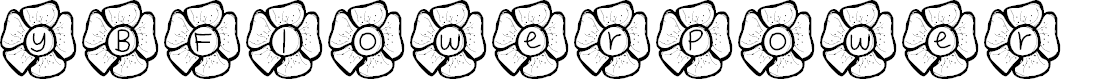 Preview image for YBFlowerPower Font