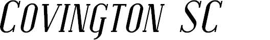 Preview image for Covington SC Italic