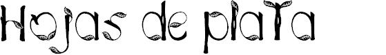 Preview image for Hojas de plata Font