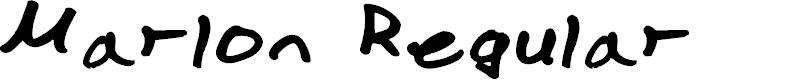 Preview image for Marlon Regular Font
