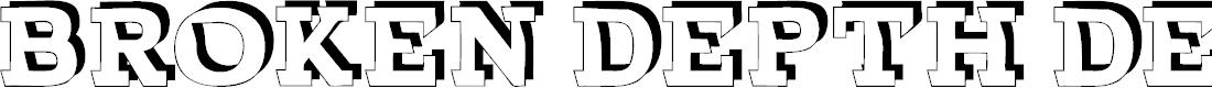 Preview image for BROKEN DEPTH demo Font