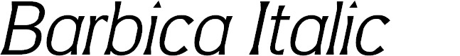 Preview image for Barbica Italic Font
