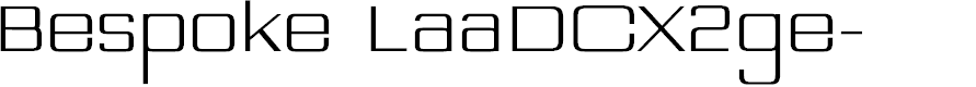 Preview image for Bespoke LaaDCX2ge- Font