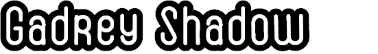 Preview image for Gadrey Shadow Font