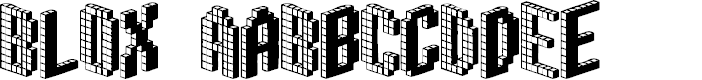 Preview image for Blox (BRK) Font