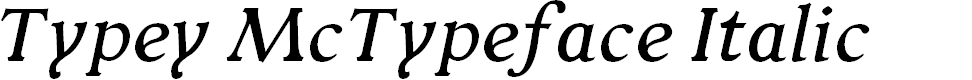 Preview image for Typey McTypeface Italic