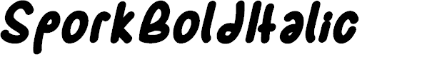 Preview image for SporkBoldItalic