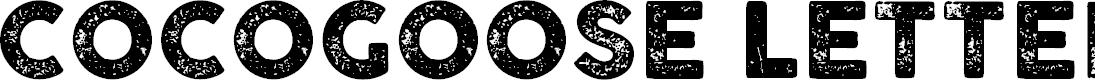 Preview image for COCOGOOSE LETTERPRESS Font