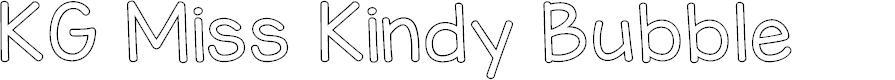 Preview image for KG Miss Kindy Bubble Font