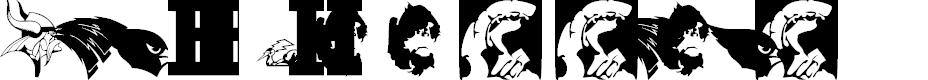 Preview image for Minnesota High School Logos first font Regular  Font