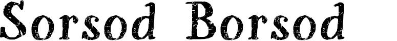Preview image for Sorsod Borsod Demo Font