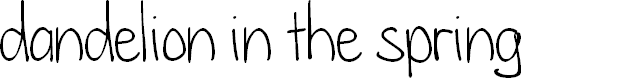 Preview image for dandelion in the spring Font