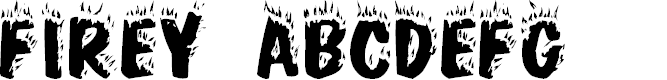 Preview image for Firey Normal Font