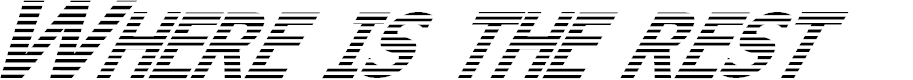 Preview image for Where is the rest Italic