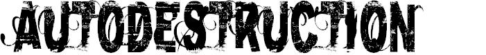 Preview image for AutoDestruction Regular Font