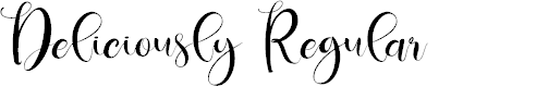 Preview image for Deliciously Regular Font