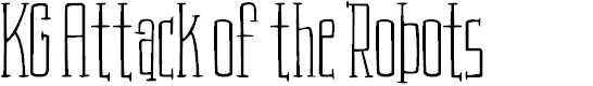 Preview image for KG Attack of the Robots Font