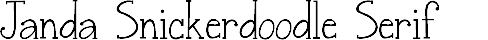 Preview image for Janda Snickerdoodle Serif