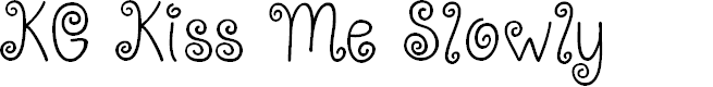 Preview image for KG Kiss Me Slowly Font