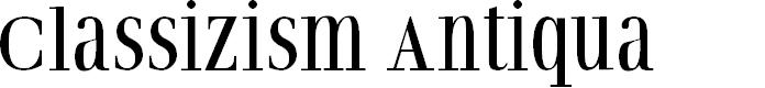 Preview image for ClassizismAntiquaBook Font