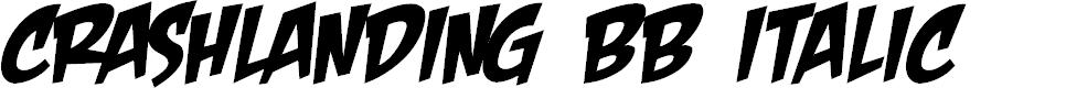 Preview image for CrashLanding BB Italic