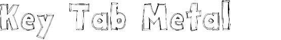 Preview image for Key Tab Metal Font
