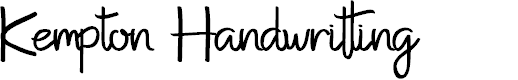 Preview image for Kempton Handwritting Font