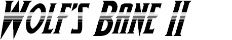 Preview image for Wolf's Bane II Halftone Italic