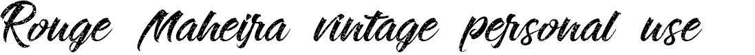 Preview image for Rouge Maheira vintage personal use Font