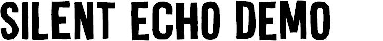 Preview image for Silent Echo DEMO Regular Font