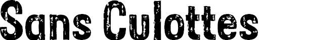 Preview image for Sans Culottes Font