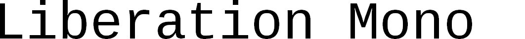 Preview image for Liberation Mono Font