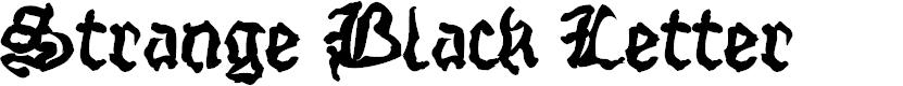 Preview image for StrangeBlackLetter Font
