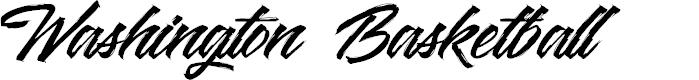 Preview image for Washington Basketball Font