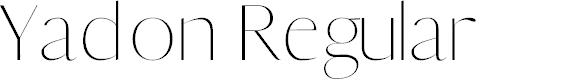 Preview image for Yadon Regular Font