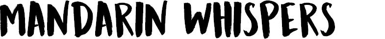 Preview image for DK Mandarin Whispers Regular Font