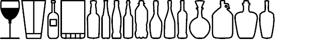 Preview image for Glass and bottles St Font