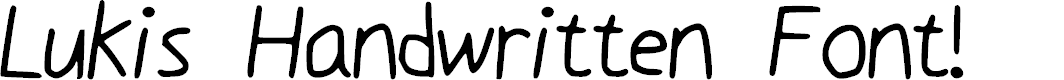Preview image for Luki_s_Handwrited_Font